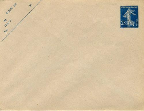 Enveloppe IV avec inscriptions