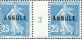 Surcharge annulé 1923