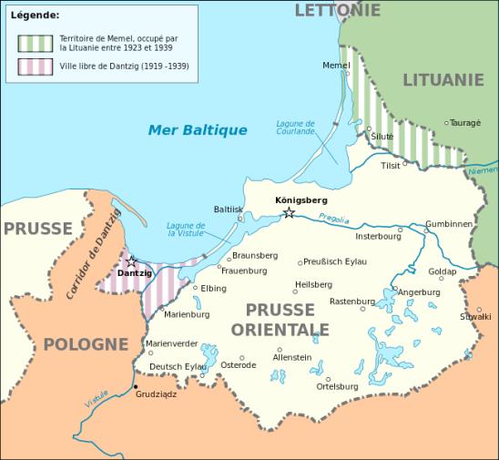 carte prusse orientale