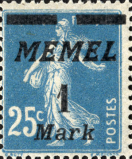memel 1 mark italique