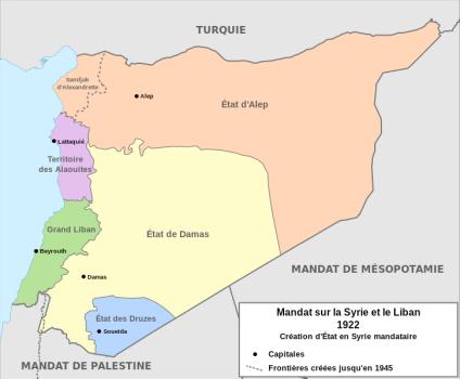 Carte générale syrie