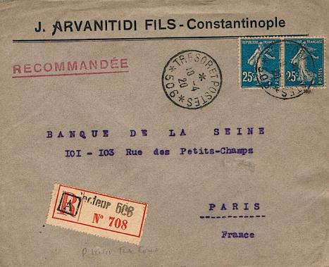 Lettre constantinople 1920