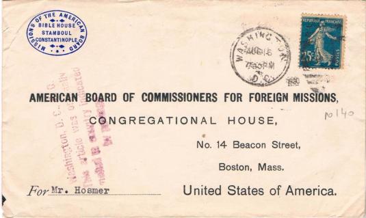 oblit cachet américain 1920