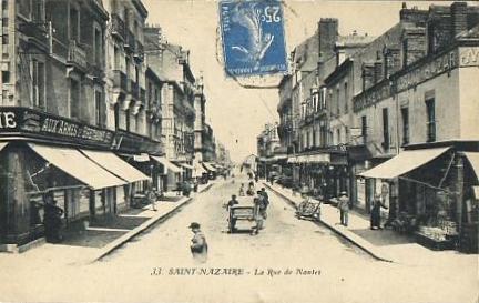 Oblit St Nazaire + cachet de ligne