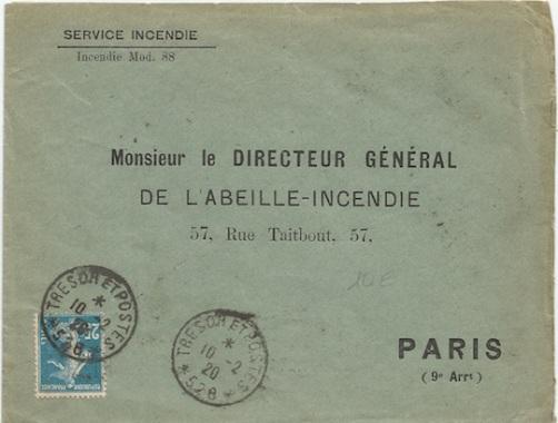 528 smyrne : lettre 1920