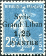Syrie Grd Liban 1,25pi