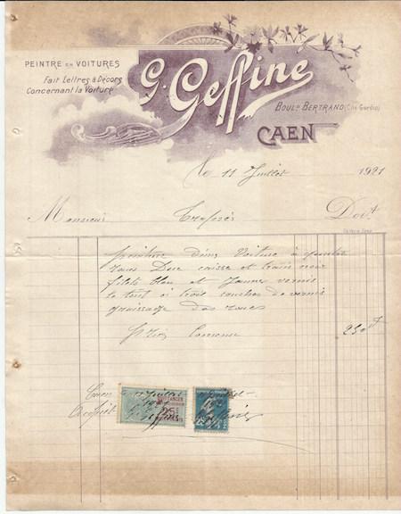 facture 1921