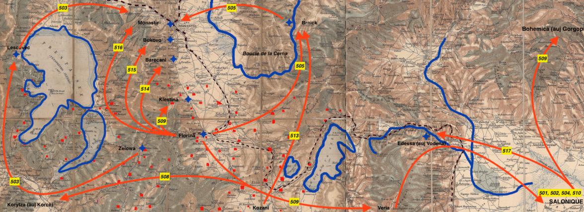 Secteurs postaux front d'orient Région de Monastir-Edessa