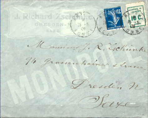 Amiens 1909 : lettre