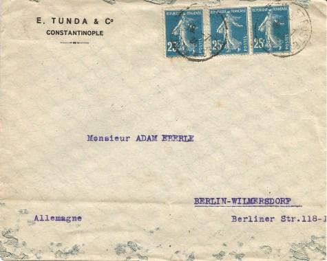 lettre constantinople 1921 75 c