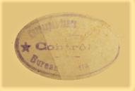 Cachet ovale controle correspondance