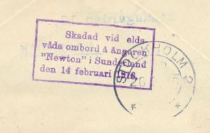 naufrage newton 14 feb 1916