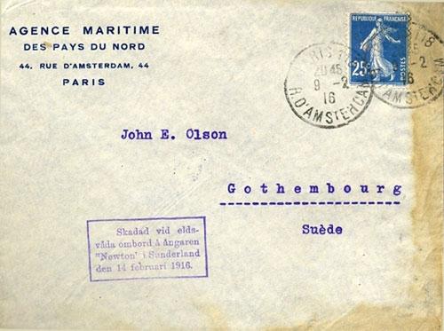 naufrage newton sunderland 1916